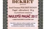 NAJLEPŠÍ PAGÁČ 2017 Rada pekárov a cukrárov Slovenska Bratislava, 28.01.2017