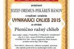 VYNIKAJÚCI CHLIEB 2015 - Pšenično-ražný chlieb Rada pekárov a cukrárov Slovenska, Cech pekárov a cukrárov RZS  Pezinok 2015
